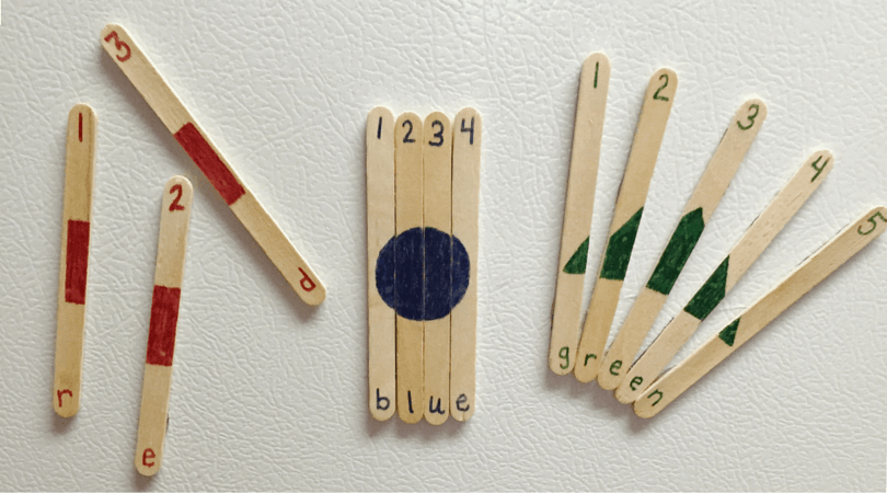 Toddler Learning Sticks – Shapes, Numbers, & Colors