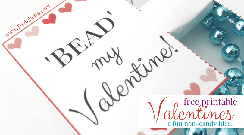 Grab these fun Free Printable Valentines for your kids this year! This is a great non-candy Valentine idea for kids of all ages!