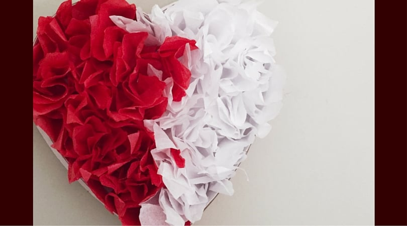 Tissue Paper Heart ~ Valentine's Day Decorations