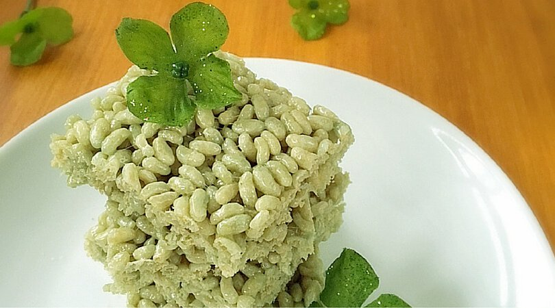 Green Rice Crispy Treats ~ Easy St Patrick's Day Recipes
