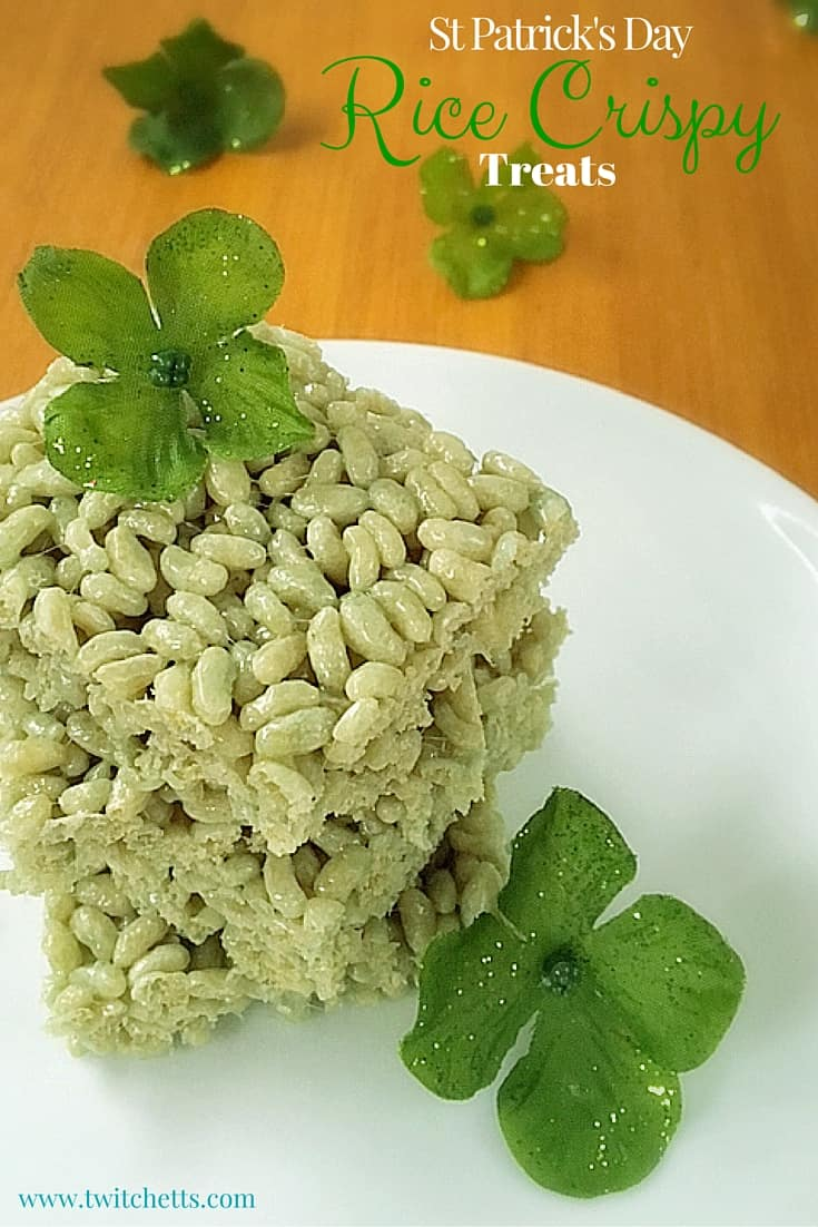 Green Rice Crispy Treats ~ Naturally Green St Patrick\'s Day Recipes