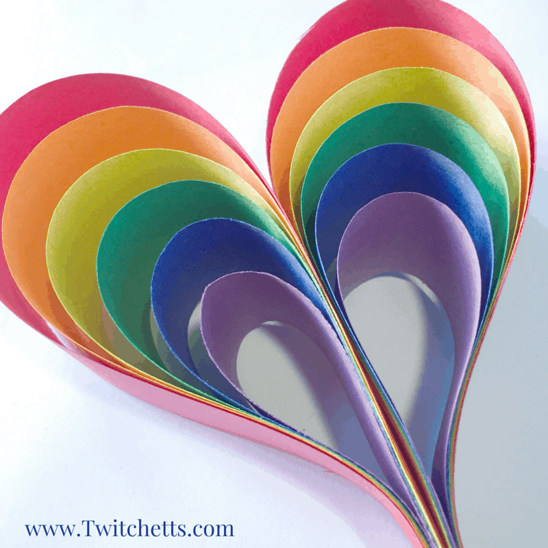 Create this heart or fun paper Rainbow Shamrocks, perfect for St. Patrick's Day! Use it as a kids activity or make one yourself!