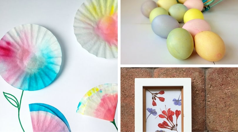 6 Fun Spring Crafts ~ From Easter Eggs to Flowers