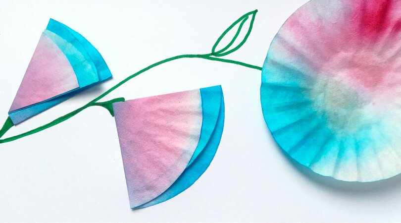 Upcycled Crafts for Kids ~ Mini Coffee Filter Flowers