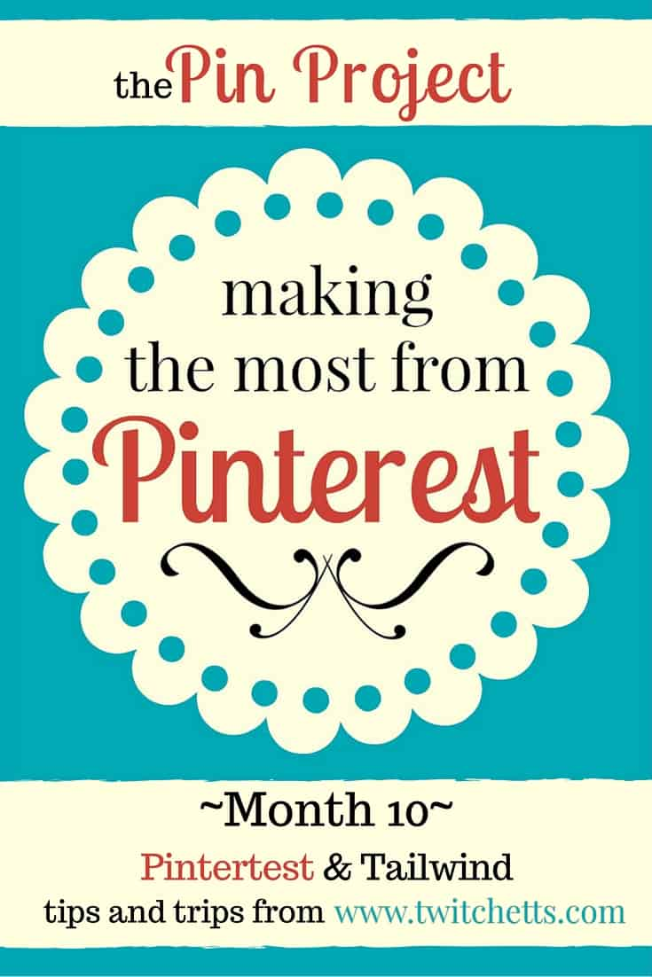 The Pin Project - Save time on Pinterest by learning how to schedule pins using a pinning tool called Tailwind.