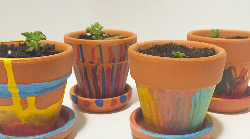 Personalized Mother's Day Gifts ~ Decorated Terracotta Pots