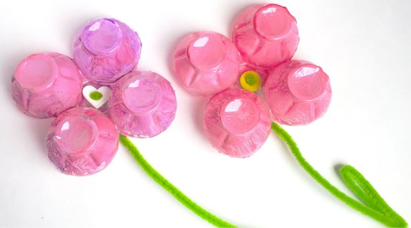 Egg Carton Crafts For Kids ~ Egg Carton Flower Magnets