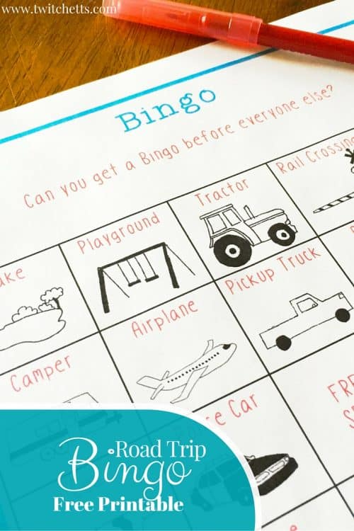 graphic about Travel Bingo Printable identified as Cost-free Street Getaway Bingo Printable - Twitchetts
