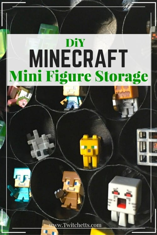Make this DiY Minecraft Mini Figure Storage for your Minecraft fan. This character stand can be made for next to nothing out of upcycled materials!