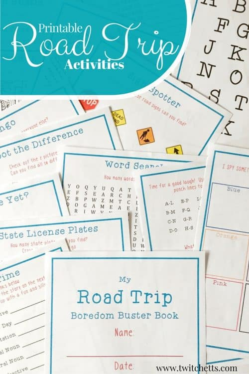 Number Names Worksheets printable fun activities : Printable Road Trip Activities - Twitchetts