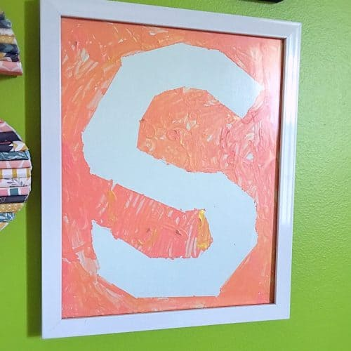 Initial Wall Collage-toddler art-s