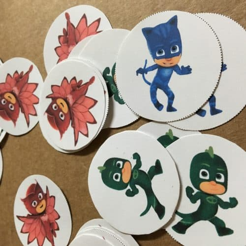 photograph regarding Pj Masks Printable Images titled How towards produce uncomplicated PJ Masks get together printables - Twitchetts