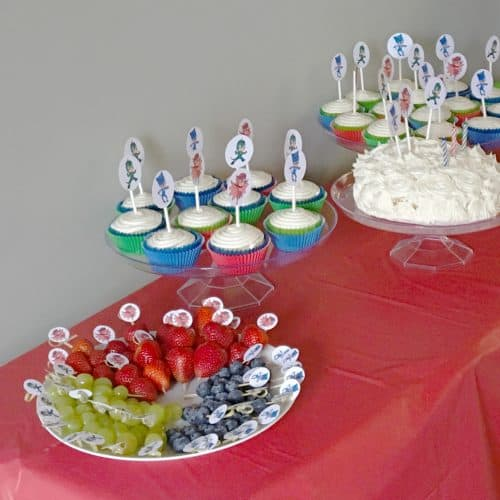 PJ Masks Party Food An Overview From A 3 Year Olds Birthday This Theme Was
