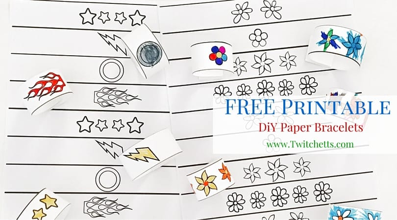 image relating to Printable Wristband Sheets identified as Do-it-yourself Paper Bracelets for Little ones - Free of charge Printable - Twitchetts