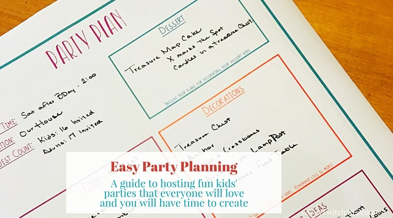 Easy Party Planning Guidebook-Get the help you need to plan your next kids' party. Party Planning can be easy with this simple guide. Includes 9 pages of party planning worksheets to help. Everything from planning the menu to the party decorations, the party theme to the fun activity.
