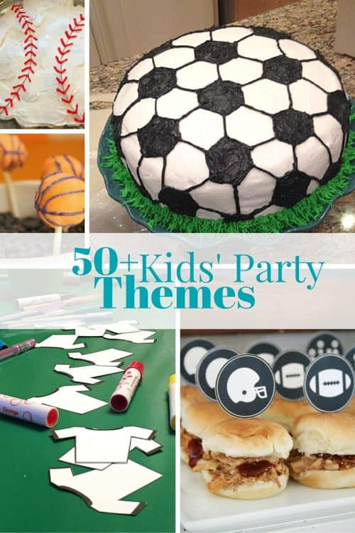 Party Theme Roundup-Get inspiration for your next kids party. Party ideas for all ages of kids. Boys party and girls party.
