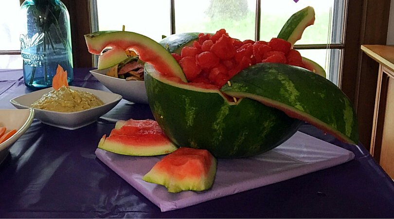 How to make an easy dragon watermelon carving for parties