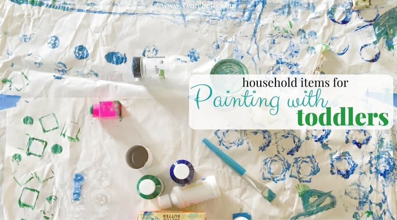 Ditch the paintbrush and find some of these fun household items for painting!