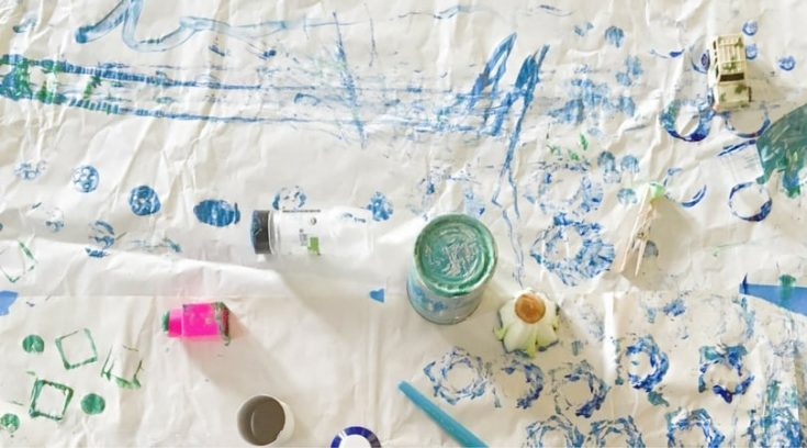 Household Items for Painting with young children