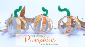 This is a fast & fun fall craft! It can be an assisted toddler craft, or a older kids craft. These cute little pumpkins can be placed around the house to add a little fall to your decor.
