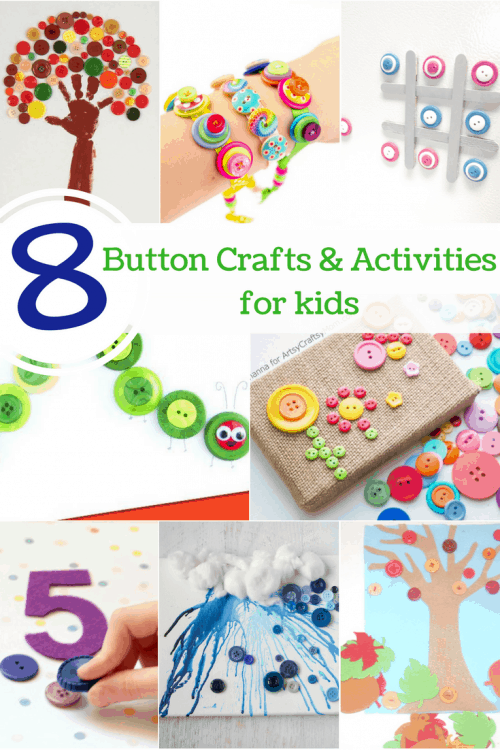 Entertain your kids with these fun button crafts and activities!