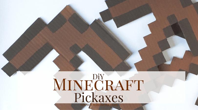 Diy Minecraft Pickaxe Twitchetts