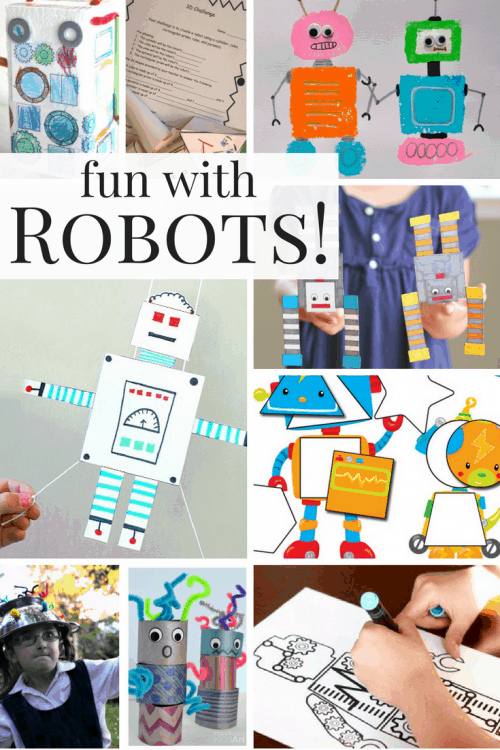 There is so many ways to have fun with robots! Robot crafts, activities, printables, and more!