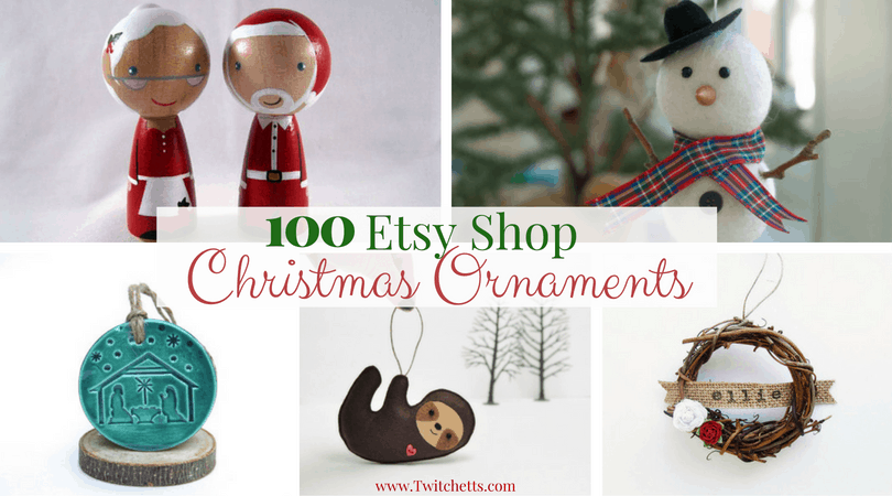 100 unique Etsy Christmas ornaments for everyone on your list - Twitchetts - 100 Unique Etsy Christmas Ornaments For Everyone On Your List