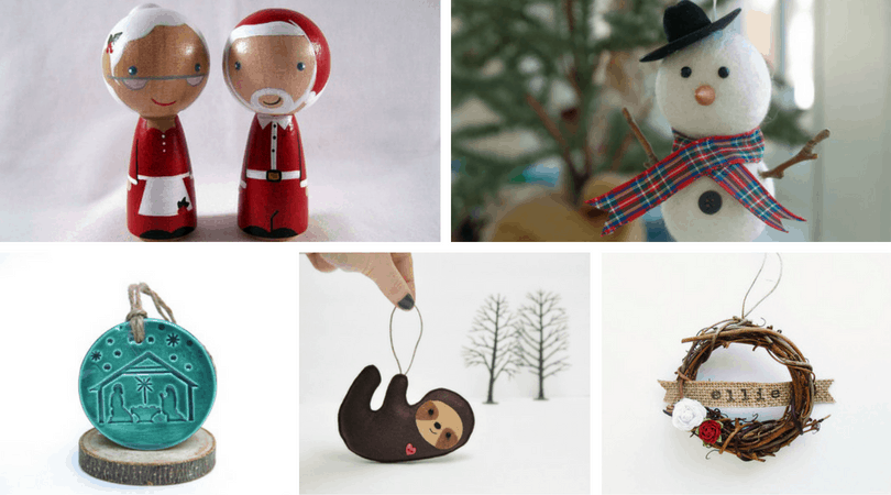 100 unique Etsy Christmas ornaments for everyone on your list