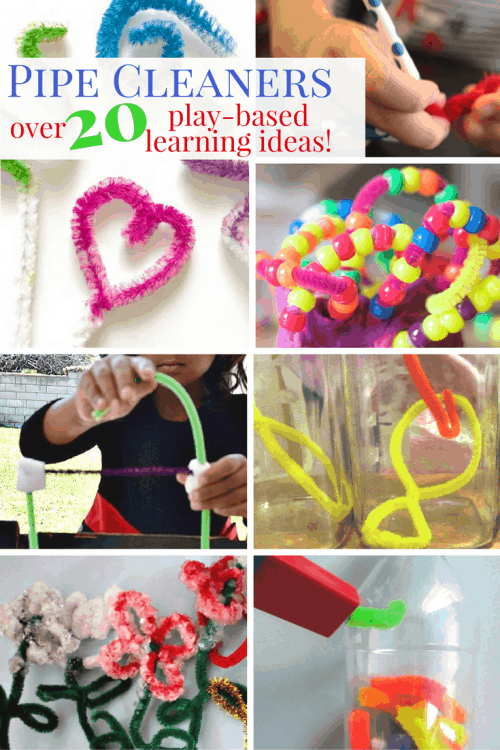 Learn through play with these fun Pipe Cleaner Crafts and Activities! From fine motor skills to letters and numbers you are sure to find something fun to do with your kids!