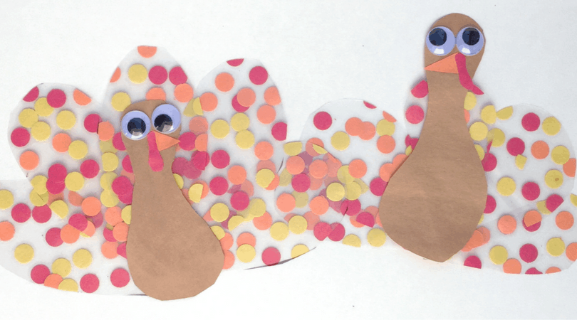 This fine motor turkey kids craft is fun for all ages! This Thanksgiving day craft is fun to create and adds a cute flare to your windows or fridge for the season.