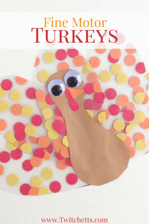 Theseturkey sun catchers combine fine motor practice with construction paper to create a beautiful Thanksgiving craft. Create them with your classroom or on a nice fall afternoon. Then hang them in your favorite window for a fun and colorful Thanksgiving decoration. #turkey #suncatcher #thanksgiving #finemotor #preschoolcraft #thanksgivingdecor #easycraftforkids #kidscrafts #twitchetts