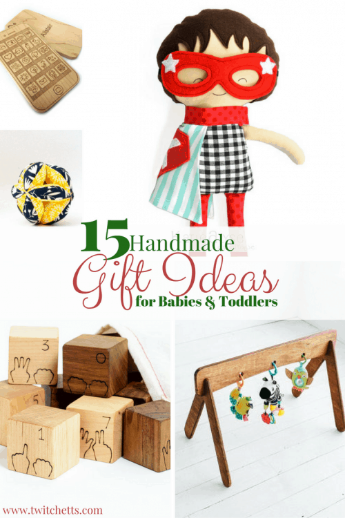 Handmade Gift Ideas for Babies and Toddlers-A gift guide of unique baby and toddler gift ideas from Etsy shops. Perfect gifts for Christmas, Hanukkah, Birthdays, Baby Showers and any other gift giving celebration. Gift ideas for boys and girls.