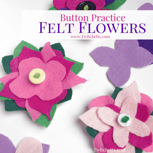 Save a few jar lids to make these super cute button practice felt flowers! Fine Motor, Hand eye coordination, and a good skill to master for any kid.