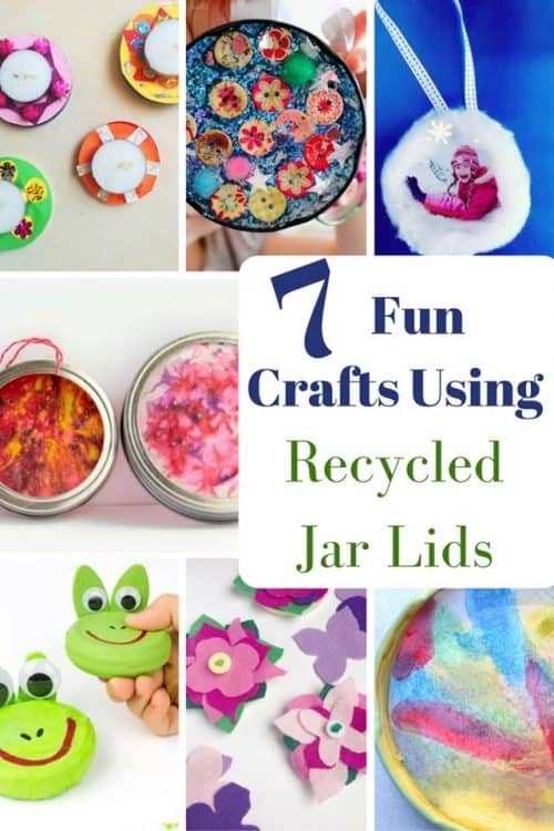 Save those Jar lids and create fun crafts and activities.