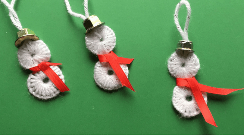 How to make snowman ornaments using washers