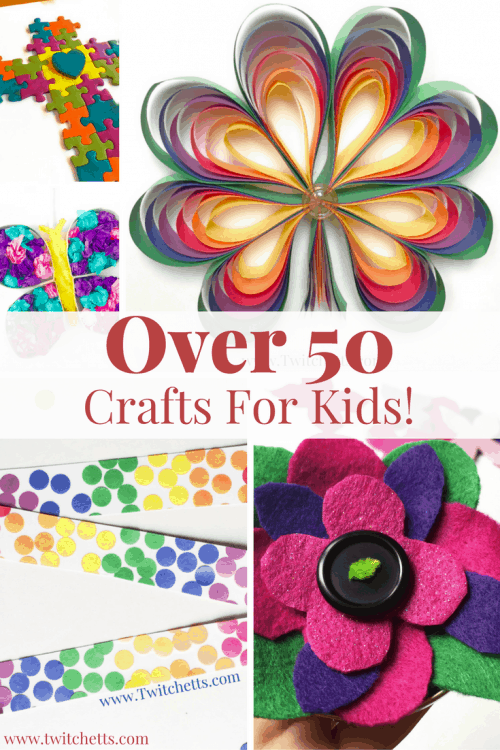 Over 50 Crafts for Kids-From Upcycled crafts, paper crafts, holiday crafts, and all other types of kids crafts. And the list keeps growing!
