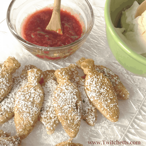 This Fun French Toast is perfect to serve for Christmas Brunch! With a holiday spice french toast recipe and a strawberry sauce recipe you will love making this for your family!