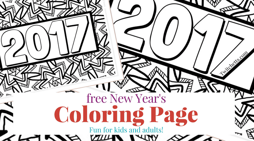 It is a picture of Selective New Year Coloring Pages 2016