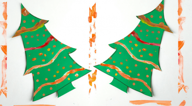 Painted Christmas tree art