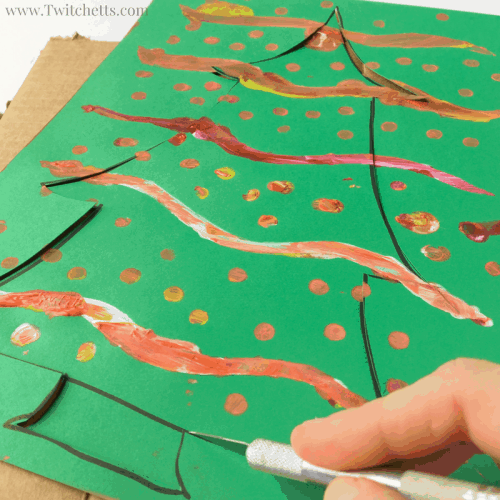 Christmas Tree Made Out Of Paper: How To Make Painted Christmas Tree Art With Kids