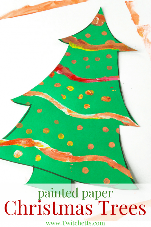 How To Make Painted Christmas Tree Art With Kids Twitchetts