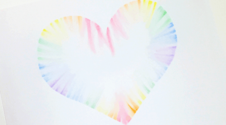 Soft pastels heart art