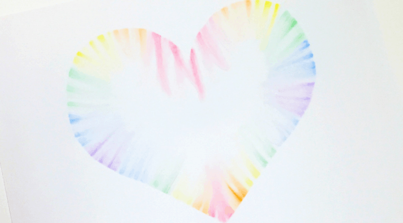 How to make a beautiful soft pastels heart art with your kids
