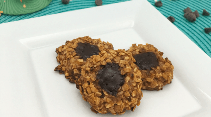 Chocolate Oatmeal Thumbprint Cookies ~ Healthy Cookie for Kids