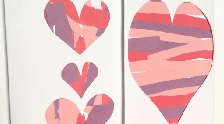 How to make Valentine's Day cards while practicing scissor skills