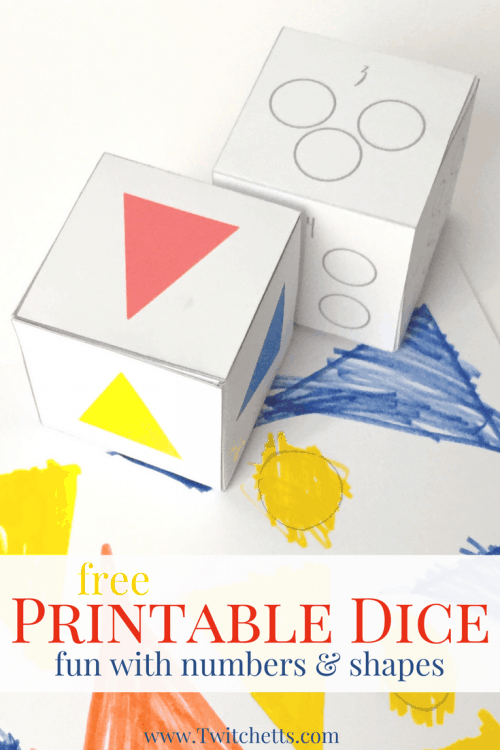 Dice Games for Kids ~ Beginning Shapes, Colors, & Counting Activity Dice