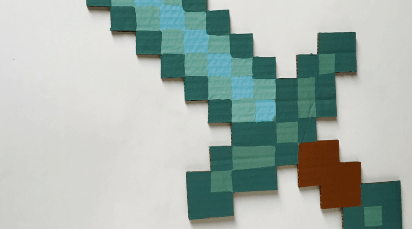 The Minecraft Sword. DIY, Party Ideas, and Bedroom Decor.