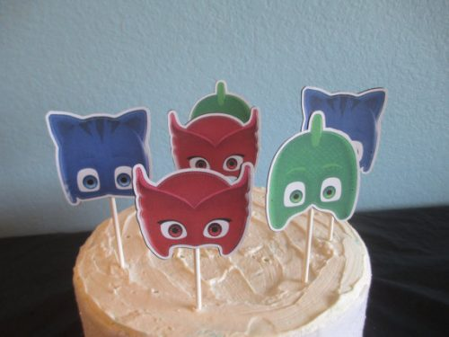 PJ Masks cupcake toppers on Etsy!
