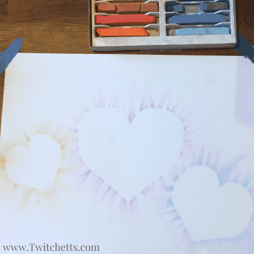 Soft Pastel Heart Craft. This makes a great Valentines day craft.